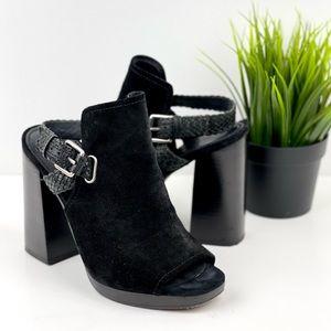 FRYE Karissa Braid Shield Platform Sandal Heel 7